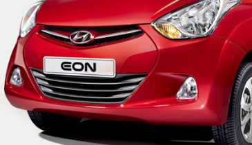 Hyundai Eon - Chrome grille and large intake