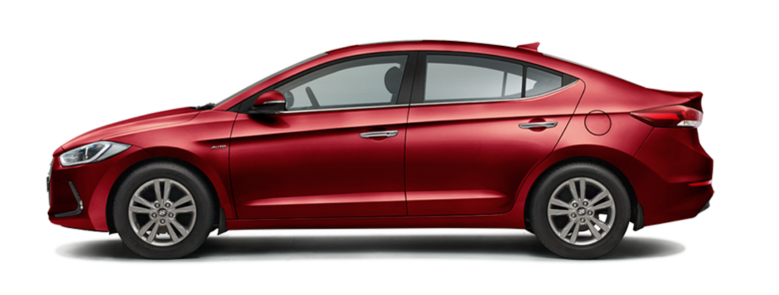 Hyundai Elantra Fiery Red