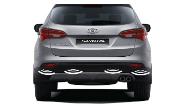 Santa Fe - Rear parking assist system