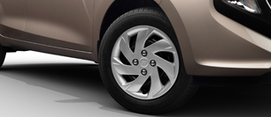 New Santro - R14 Steel Wheel with Cover